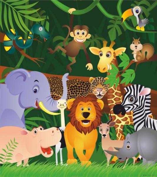 Fototapet FTL 1639 Locuitorii junglei