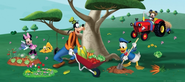 Fototapet FTDh 0621 Mickey Mouse agricultorul