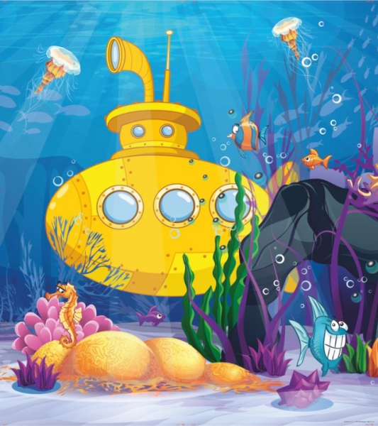 Fototapet FTL 1638 Submarinul galben