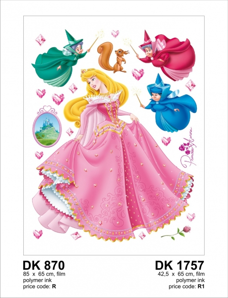 Sticker decorativ DK870 Frumoasa Adormita