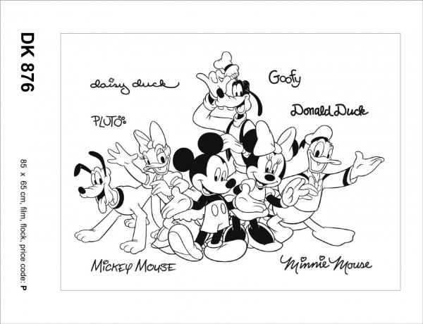 Sticker decorativ DK876 Mickey Mouse si prietenii