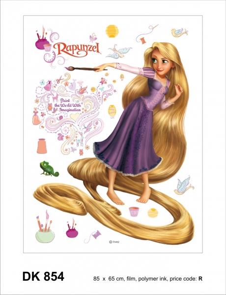 Sticker decorativ DK854 Rapunzel & Pascal