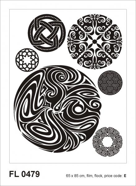 Sticker decorativ FL0479 Cercuri