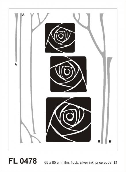 Sticker decorativ FL0478 Trandafiri