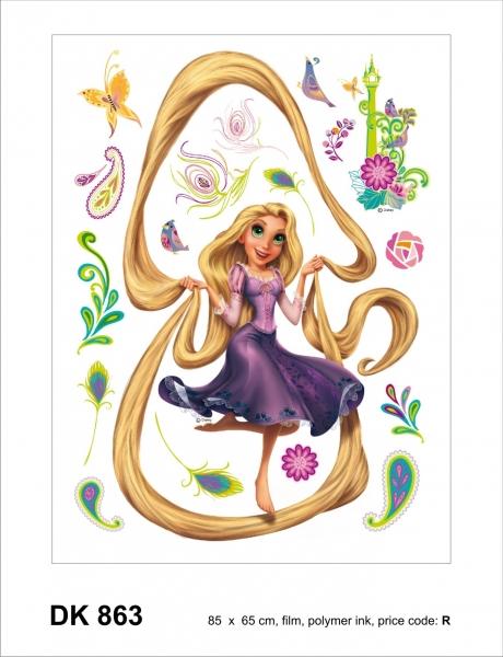 Sticker decorativ DK863 Frumoasa Rapunzel