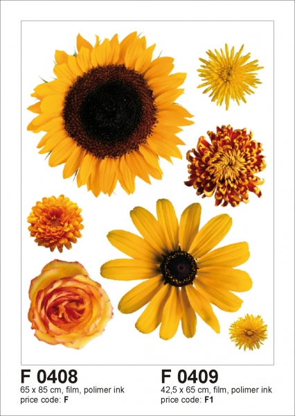 Sticker decorativ F0409 Flori galbene