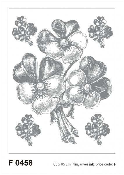 Sticker decorativ F0458 Floral