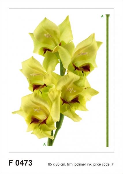 Sticker decorativ F0473 Orhidee galbena