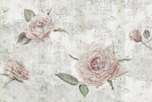 Fototapet XXL4-049 Trandafiri vintage