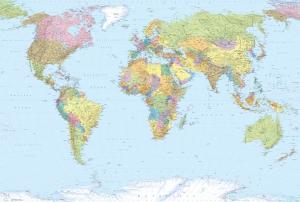 Fototapet XXL4-038 Harta politica a lumii