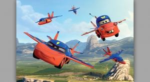 Fototapet 317 P4 Flying Cars