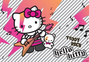 Fototapet 459 P4 Hello Kitty la chitara
