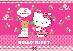Fototapet 457 P8 Hello Kitty ciresica