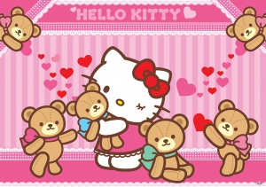 Fototapet 462 P4 Hello Kitty & ursi de plus