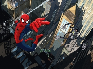 Fototapet FTDxxl 2213 Spiderman in lupta