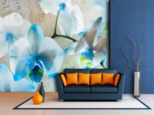 Fototapet FT 1433 Flori albastre