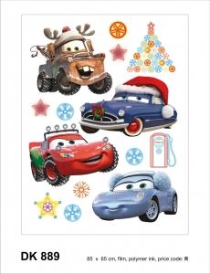 Sticker decorativ DK889 Cars de Craciun