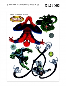 Sticker decorativ DK1712 Spiderman, Doc Ock, Lizard & GG