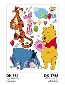 Sticker decorativ DK861 Winnie the Pooh