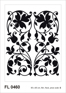 Sticker decorativ FL0460 Arabesque din catifea