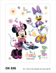 Sticker decorativ DK856 Minnie & Daisy