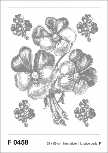Sticker decorativ F0458 Floral