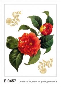 Sticker decorativ F0457 Flori rosii