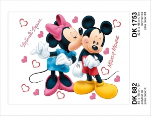 Sticker decorativ DK882 Minnie & Mickey