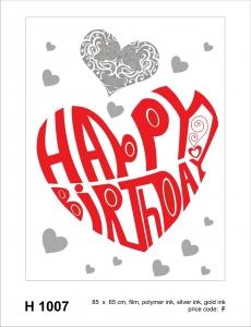 Sticker decorativ H1007 Happy birthday!