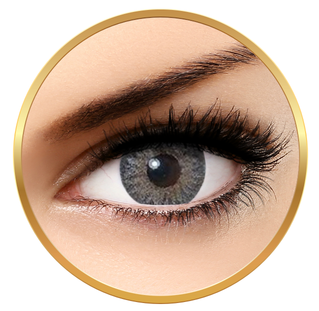 Bella Natural Looking Lenses Natural Cool Gray - Gray Contact Lenses Quarterly - 90 wears (2 lenses/box)