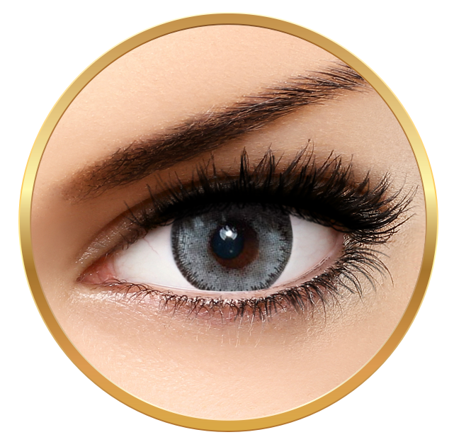 Bella Glow Collection Luminious Pearl - Grey Contact Lenses Quarterly - 90 wears (2 lenses/box)