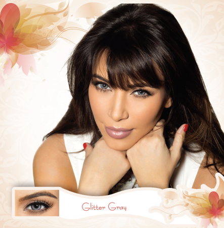 Bella Diamonds Collection Glitter Gray - Grey Contact Lenses Quarterly - 90 wears (2 lenses/box)
