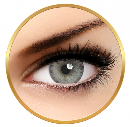 Adore Pearl Gray - Quarterly Grey Colored Contact Lenses - 90 wears (2 lenses / box)