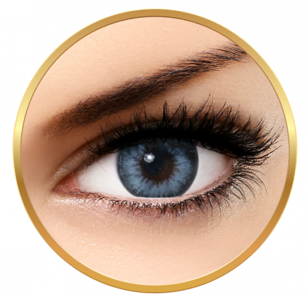 Bella Diamonds Collection Pacific Blue - Blue Contact Lenses Quarterly - 90 wears (2 lenses/box)